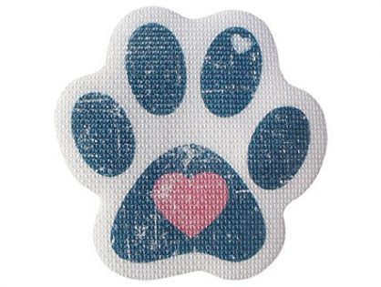 "SlipRx USA Nonslip Bathtub Stickers Safety Adhesive Paw Print Treads | Large Decal Surface Area Shower Grip - 4"" Diameter Applique Blue Heart"