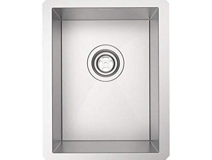 "MENSEAJOR 13"" x 17"" Single Bowl 18 Gauge Handmade Undermount SUS 304 Stainless Steel Kitchen Sink"