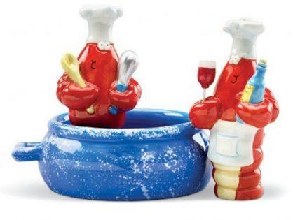 Red Lobster Pot Chef Cook Salt & Pepper Shaker S/P