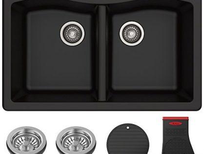 Kraus Forteza Granite Kitchen Sink, 33 Inch, KGD-52BLACK