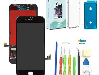 Screen Replacement for iPhone 8 4.7 inch - 3D Touch LCD Complete Repair -LCD Touch Digitizer Display Glass - Free Cover,Waterproof Adhesive,Tempered Glass,Tools,Instruction Black