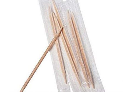 500 Individually Wrapped Double Pointed Round Wooden Toothpicks