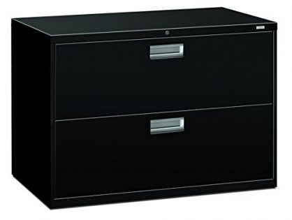 HON 2-Drawer Filing Cabinet - 600 Series Lateral or Legal File Cabinet, 42w by 19-1/4d, Black H692