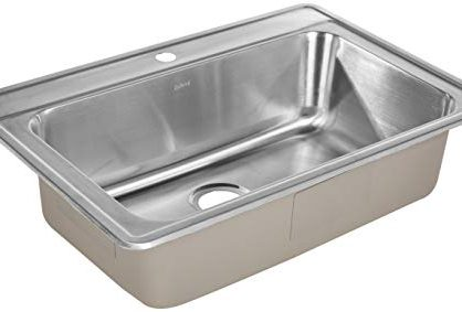 ZUHNE Drop-In Kitchen Sink Stainless Steel 33 by 22 Single Bowl