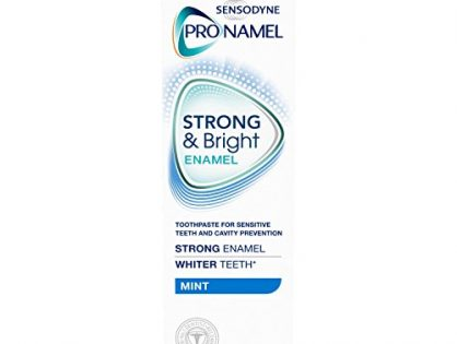 3 Ounces - Sensodyne Pronamel Strong And Bright Enamel Toothpaste for Sensitive Teeth, Mint