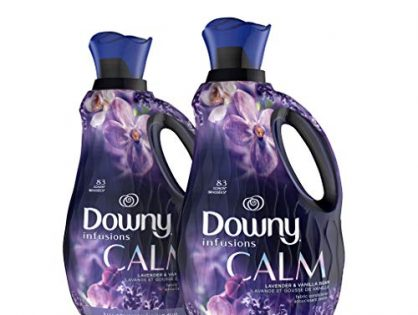 Downy Infusions Liquid Fabric Conditioner Fabric Softener, Calm, Lavender & Vanilla Bean, 56 Oz Bottles, 166 Loads Total Pack of 2