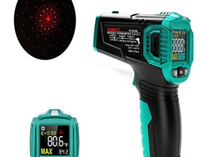 KAIWEETS Infrared Thermometer, Handheld Infrared Thermometer Gun Non-Contact Color Display -58℉~1022℉ -50℃ ~ 550℃ with Adjustable Emissivity and Temp Alarm Setting for Cooking HT650B