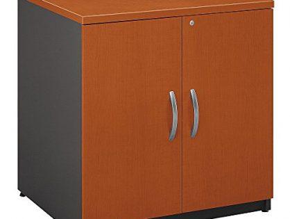 Bush Business Furniture Series C 30W Storage Cabinet in Auburn Maple