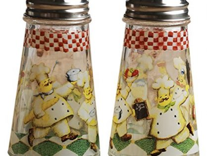 Circleware 66764 Bistro Chef Salt and Pepper Shakers, 4 oz