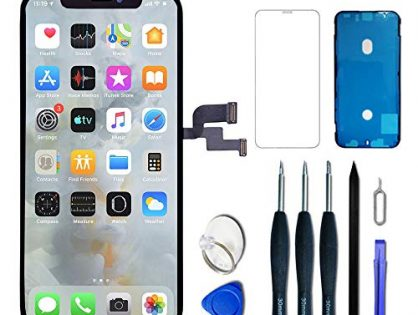 VANYUST for iPhone X Screen Replacement OLED 5.8 inch NOT LCD Touch Screen Display Digitizer Repair Kit Assembly with Complete Repair Tools and Screen Protector